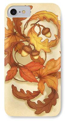 Thanksgiving Digital Art iPhone Cases