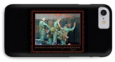 Patriotism Digital Art iPhone Cases