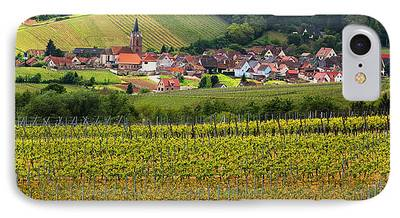 Vineyards Of Alsace Photographs iPhone Cases