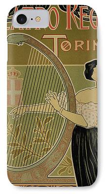Harp Drawings iPhone 7 Cases