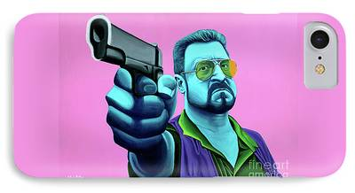 Lebowski Paintings iPhone Cases