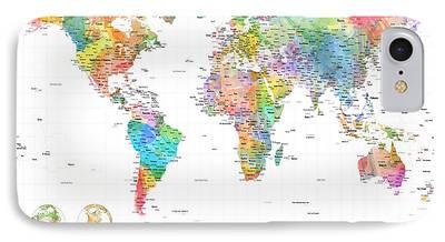 Cartography Digital Art iPhone Cases