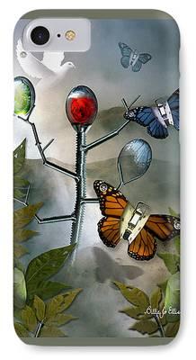 Greeting Digital Art iPhone Cases