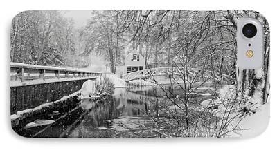 Winter In Maine Digital Art iPhone Cases