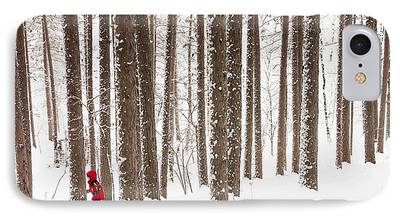 North Woods Snow Snowy Woods Winter Woods Duluth Lake Superior Winter iPhone Cases