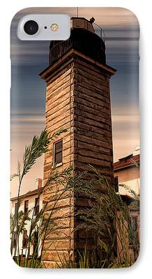 New England Lighthouse Digital Art iPhone Cases
