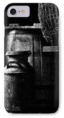Barn And Rusted Barrel Photographs iPhone Cases