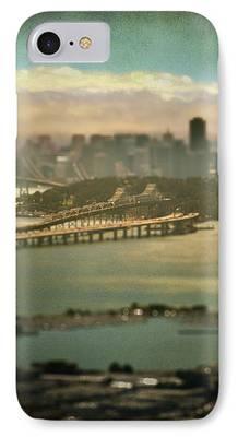 Bay Bridge Digital Art iPhone Cases