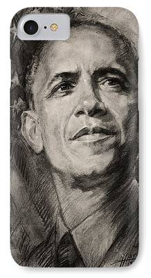 Barack Obama Drawings iPhone Cases