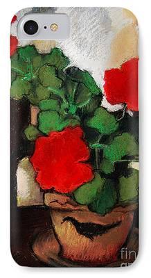 Red Geraniums iPhone Cases