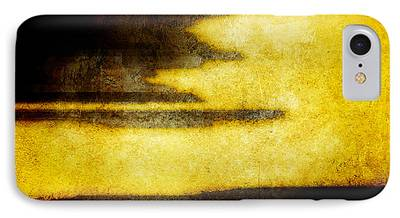Brett Pfister Yellow Abstract Horizontal Lines Epic Amazing Colors iPhone Cases