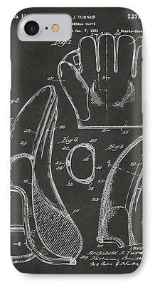 Baseball Glove Drawings iPhone Cases