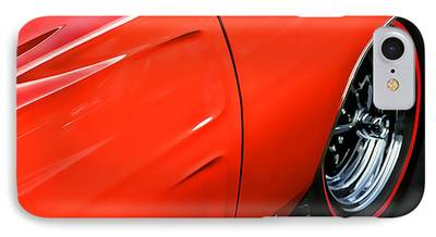 1969 Dodge Charger Stock Car Digital Art iPhone Cases