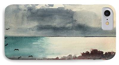 Maine Landscapes Paintings iPhone Cases
