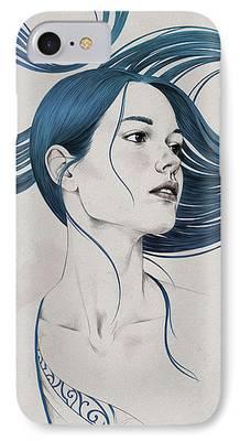 Hair Drawings iPhone Cases