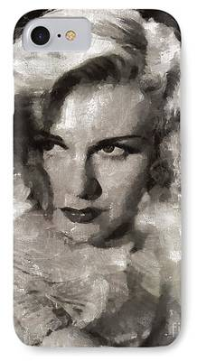 Ginger Rogers Paintings iPhone Cases