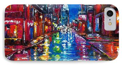 City Scene Paintings iPhone Cases