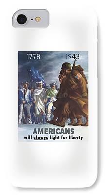 Revolutionary War Mixed Media iPhone Cases