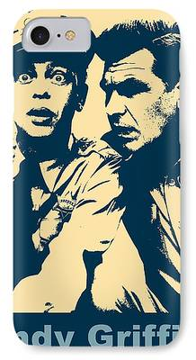 Andy Griffith Show Mixed Media iPhone Cases