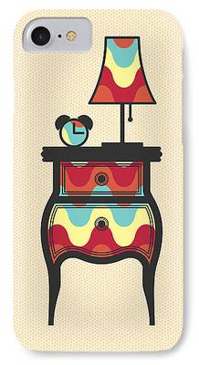 Night Lamp Drawings iPhone Cases