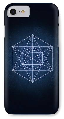 Flower Of Life Digital Art iPhone Cases