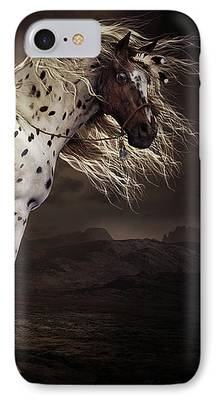 Horses Digital Art iPhone Cases