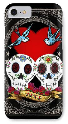 Folk Art Digital Art iPhone 7 Cases