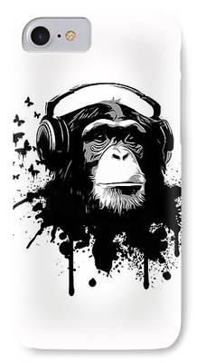 Chimp Digital Art iPhone Cases