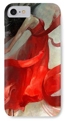 Red Art iPhone Cases
