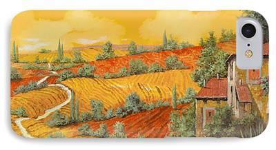 Vineyard Landscape iPhone Cases