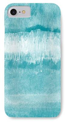 Waves Mixed Media iPhone 7 Cases