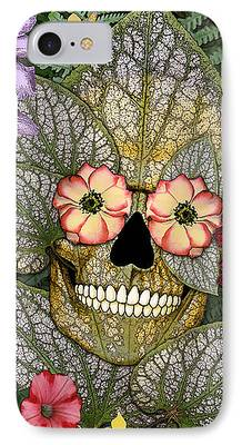 Flower Of Life Mixed Media iPhone Cases