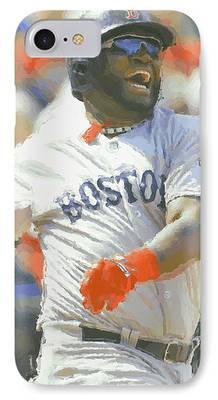 Boston Red Sox Digital Art iPhone Cases