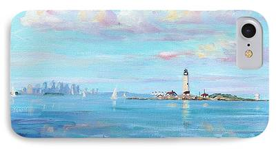 City. Boston Paintings iPhone Cases