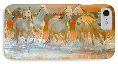 White Horses iPhone Cases