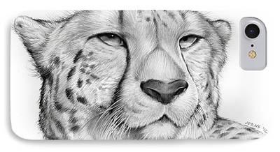 Cheetah Drawings iPhone Cases