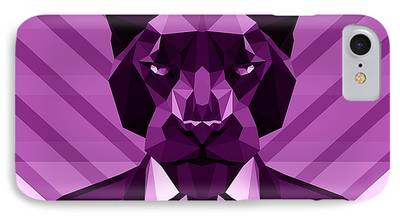 Panther Digital Art iPhone Cases