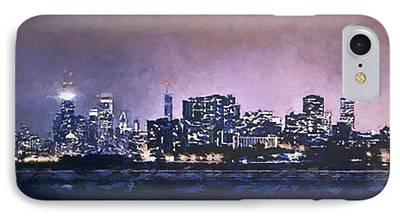 Willis Tower Digital Art iPhone Cases