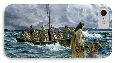 Christ Walking On Water iPhone Cases