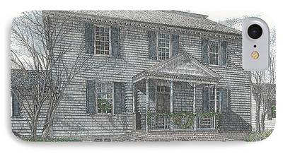 Carter House Drawings iPhone Cases