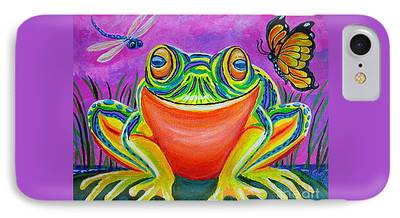 Dragon Fly On A Lily iPhone Cases