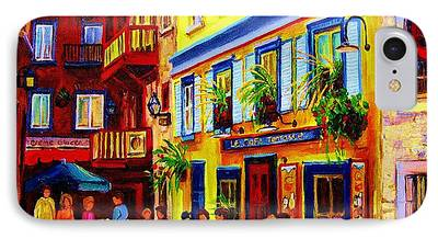 Montreal Buildings Paintings iPhone Cases