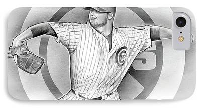 Chicago Cubs Drawings iPhone Cases
