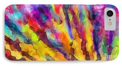 Colored Pencil Abstract Drawings iPhone Cases