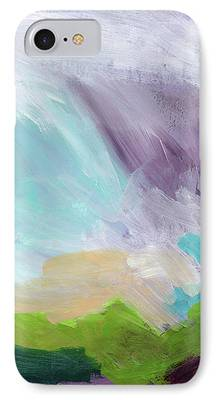 Abstract Expressionist Mixed Media iPhone Cases