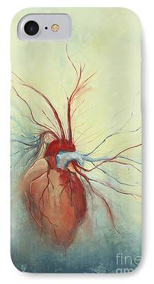 Heart Paintings iPhone Cases