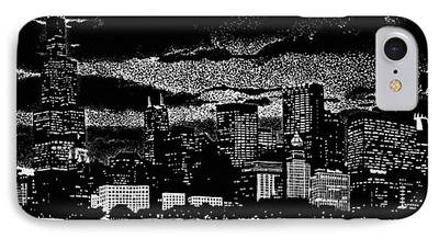 Willis Tower Drawings iPhone Cases