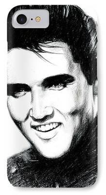 Elvis Presley Drawing iPhone Cases
