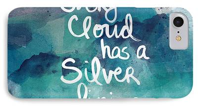 Clouds Mixed Media iPhone Cases