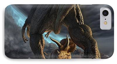 Extinct And Mythical Digital Art iPhone Cases